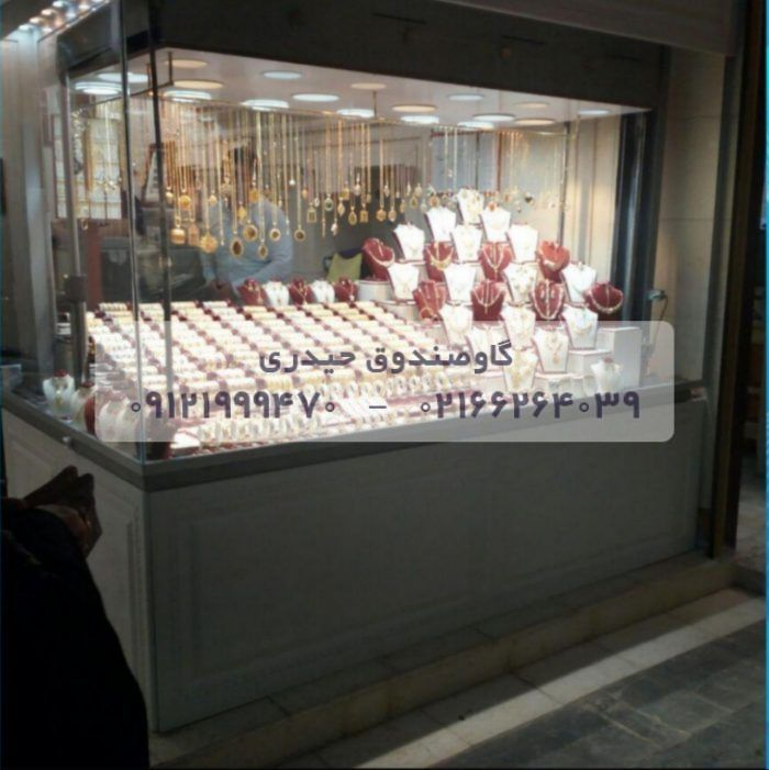 گاوصندوق آسانسوری  ایران کاوه مخصوص طلافروشی با شیشه های ضدگلوله